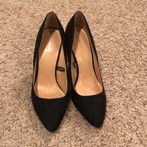 Express Suede block heels